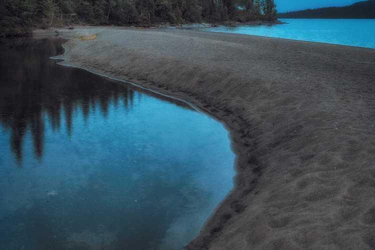 Stranden intill Ankarvattnet - Ludwig Sörmlind