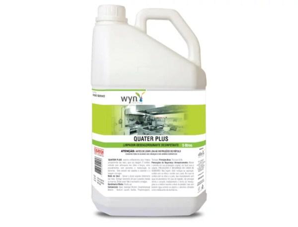 Quater Plus - Limpador Desinfetante à base de Quaternário de Amônio - Galão de 5 litros - Elfen