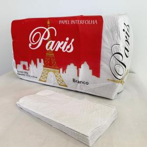 Papel Toalha Interfolha 2 Dobras Intercaladas 21x21cm Branco – Paris – Pacote 1000 FL