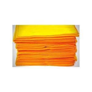 Flanela Amarela 28 x 28 – Pacote Com 12 Unidades – Caebi