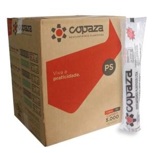 Copo Descartável 50ml Branco PS – Caixa com 5000 Unidades – Copaza