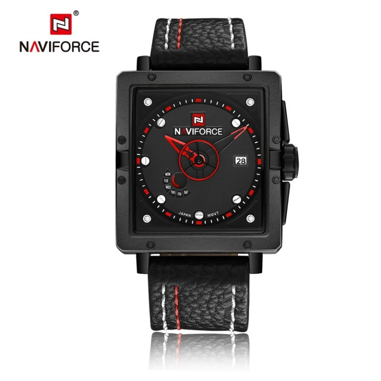 NAVIFORCE-9065 Black with red and white details