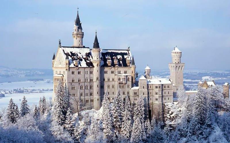 Castelo de Neuschwanstein - Inverno