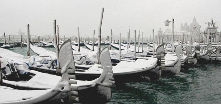 Veneza inverno trem