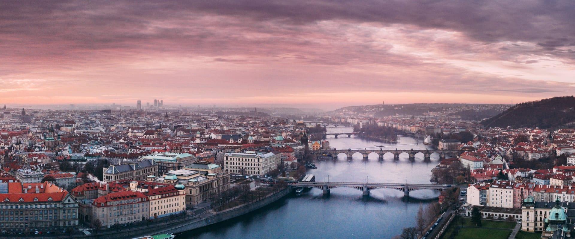 Trem de Viena para Praga