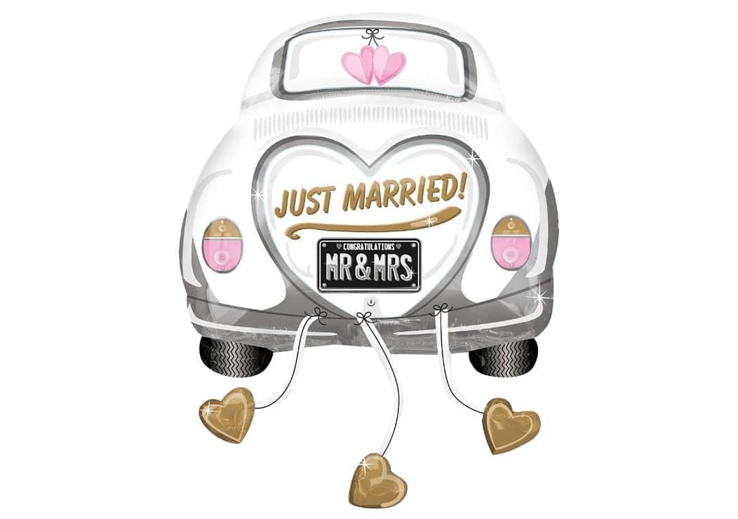 1 Dekofigur Vintage Hochzeit Auto 5 Cm Hobbyfun 769