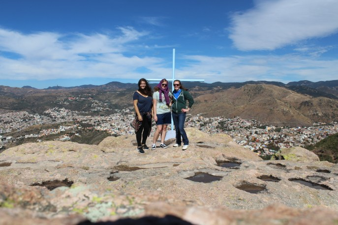 With friends Nicky and Ashley, atop La Bufa