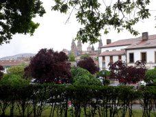 Santiago de Compostela en día lluvioso.
