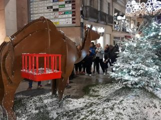 Renos en Príncipe.. Alumbrado Navidad Vigo 2018