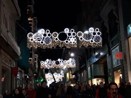 Calle Príncipe.. Alumbrado Navidad Vigo 2018