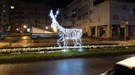 Avenida de Galicia en Navidad - Alumbrado Navidad Porriño 2018