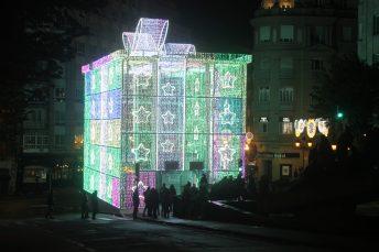 La Caja de Regalo Gran Vía Alumbrado Navidad Vigo 2019