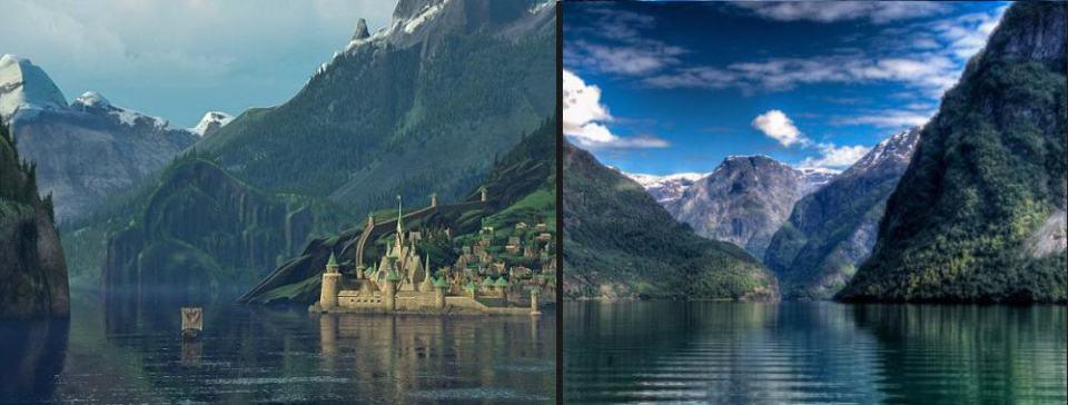 Destinos de película Frozen Noruega