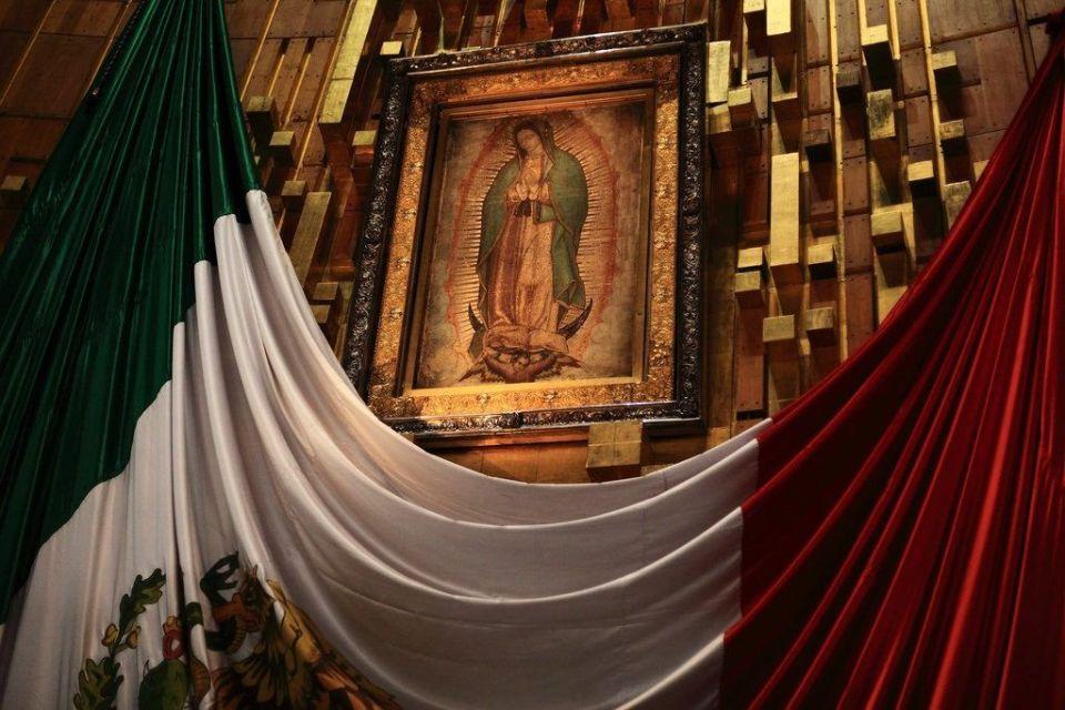 retablo de la virgen de Guadalupe en México