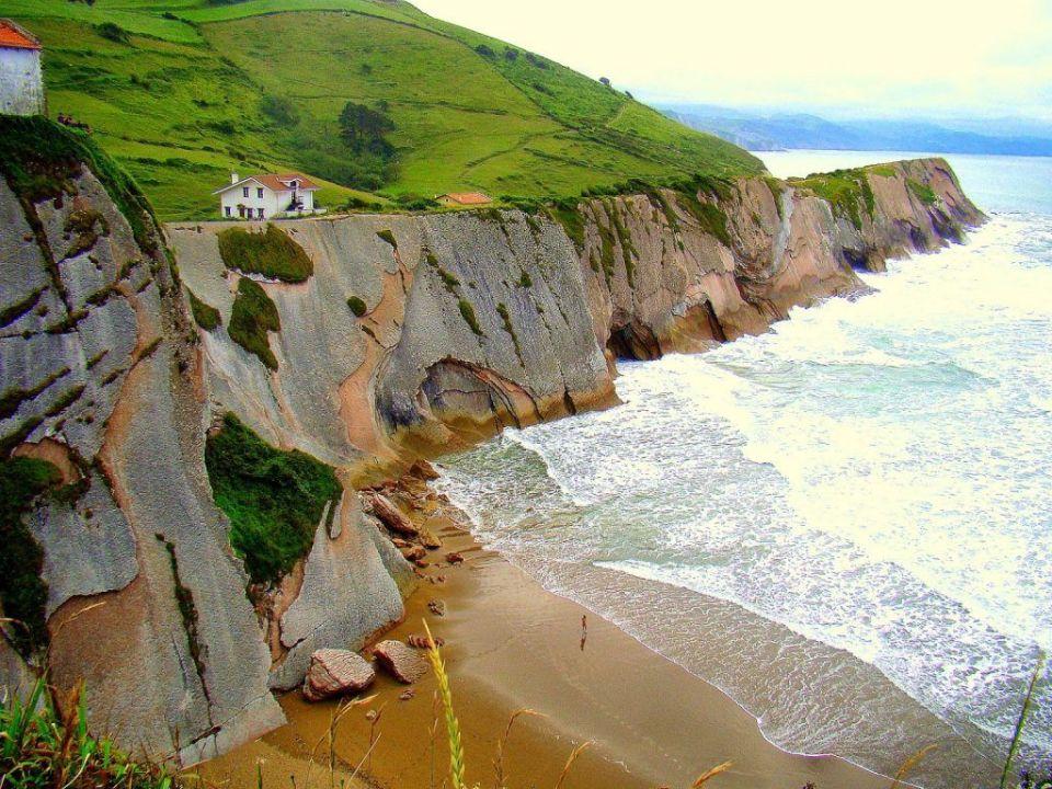 Itzurun, acantilados costeros de Europa (España)