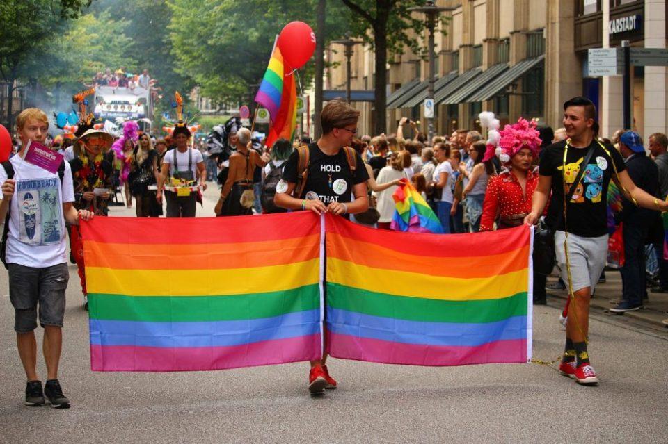 Celebrar el desfile del orgullo LGBT