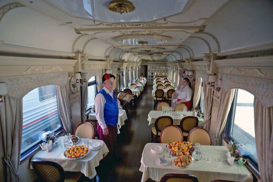 interior del tren Zarengold