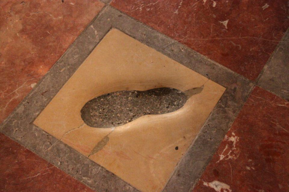 Huella del Diablo en Frauenkirche