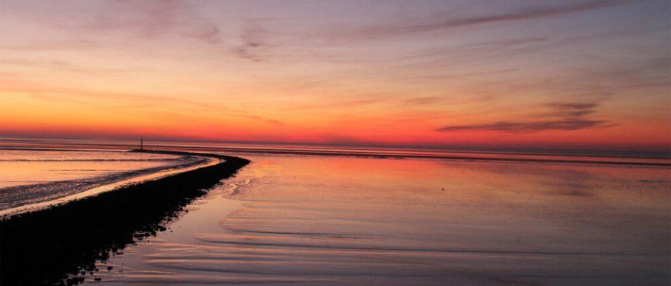 norddeich en la costa del Mar del Norte de Alemania