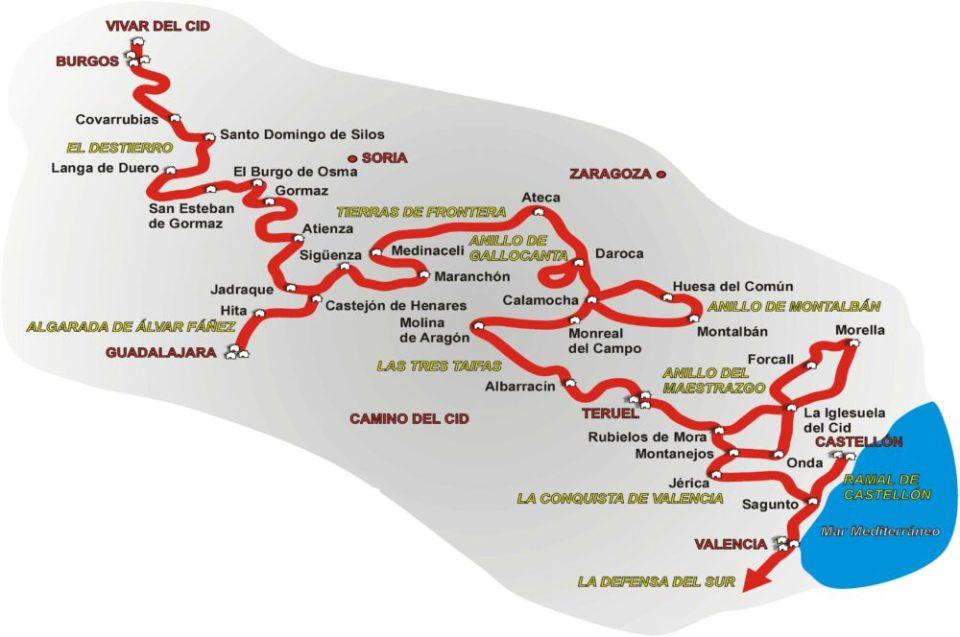 Una de las rutas literarias de España más extensa es la de Ruta del Camino del Cid