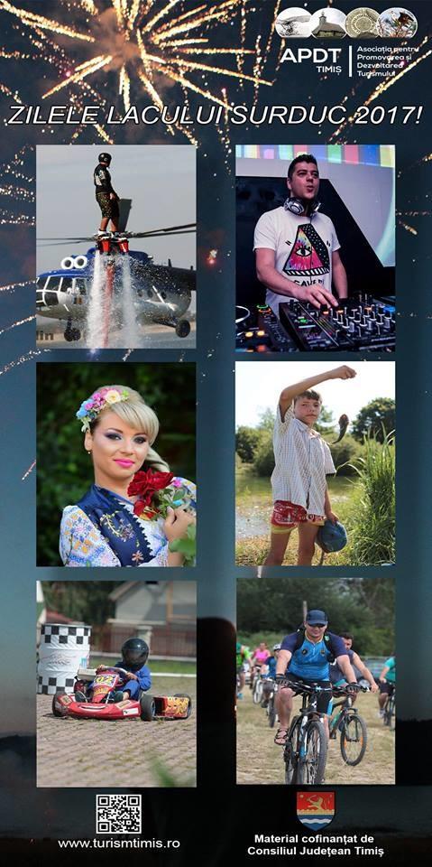 Lugoj Expres Acrobații aeriene și nautice, la Zilele Lacului Surduc zilele lacului Sursuc turism show aeronautic pescuit obiective turistice Lacul Surduc Fârdea
