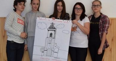 """Lugoj Expres Proiectul """"Ŧrecuŧul = Idenŧiŧaŧe + Viiŧor"""", o nouă etapă voluntari Ŧrecuŧul = Idenŧiŧaŧe + Viiŧor Turnul Bisericii Sfântul Nicolae Lugoj proiect patrimoniul cultural elevi Colegiul Național """"Iulia Hasdeu"""" Lugoj"""