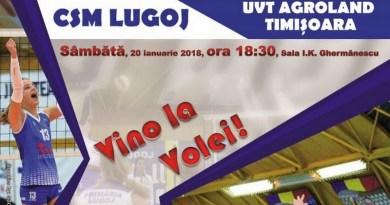 Lugoj Expres Derby bănățean la fileu: CSM Lugoj - Agroland Timișoara volei meci invitație Divizia A1 derby bănățean derby CSM Lugoj Agroland Timișoara