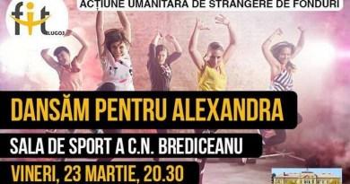 Lugoj Expres FitLugoj dansează pentru Alexandra! strângere de fonduri scop nobil FitLugoj fetiță bolnavă donații Dansăm pentru Alexandra Alexandra ajutor acțiune umanitară