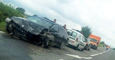 Lugoj Expres Accident cu patru victime, pe DN 68A, între Lugoj și Traian Vuia victime vătămare corporală Traian Vuia persoane rănite patru răniți Lugoj Impact violent familie rănită DN 68A copii răniți accident