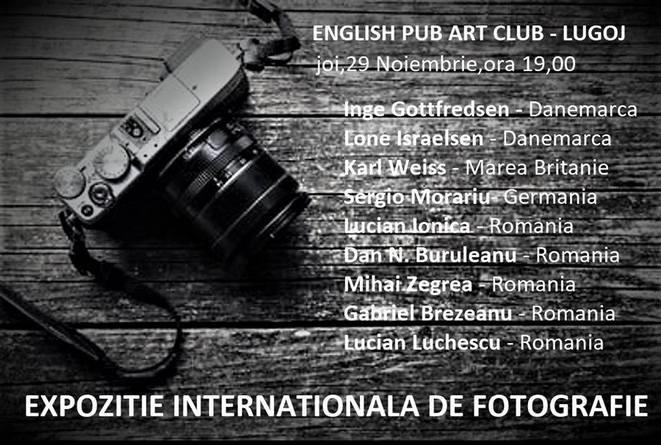 Lugoj Expres Expoziție internațională de fotografie, la English Pub Art Club Lugoj fotografie expoziție English Pub Art Club English Pub