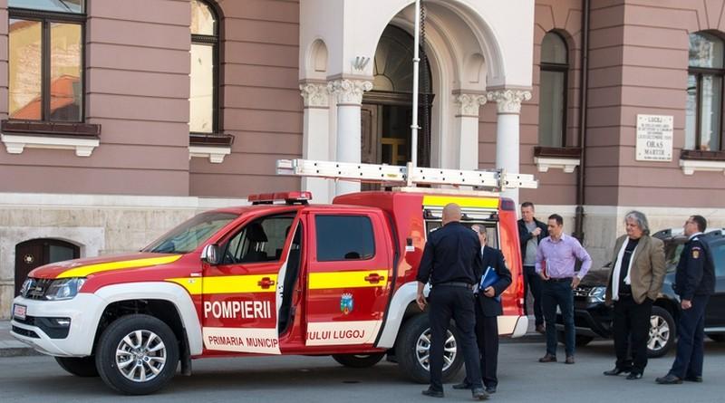 Lugoj Expres Detașamentul de Pompieri Lugoj a primit o autospecială pentru intervenții în zonele cu acces limitat primăria lugoj pompieri dotare Detașamentul de Pompieri Lugoj autospecială achiziție