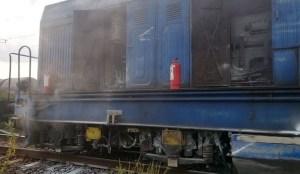 Lugoj Expres incendiu locomotiva 1a