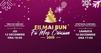 Lugoj Expres Dublu eveniment caritabil: Fii mai bun, fii Moș Crăciun! târg de Crăciun spectacol caritabil Fusion of Arts FOA fii Moș Crăciun fii mai bun eveniment caritabil donații