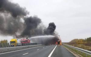 Lugoj Expres incendiu autotren A1 2