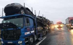 Lugoj Expres incendiu autotren A1 5