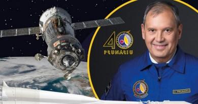 Lugoj Expres Pe 14 mai 2021 se sărbătoresc 40 de ani de la primul zbor al unui român în spațiu spațiul cosmic primul zbor primul român în spațiul cosmic primul român evenimente eveniment științifico-educativ Dumitru Prunariu cosmonaut 40 de ani
