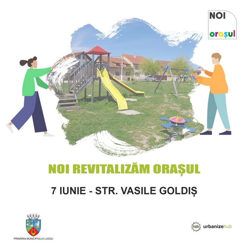 """Lugoj Expres Prima acțiune în campania """"Noi revitalizăm orașul"""" UrbanizeHub revitalizăm orașul proiect primăria lugoj Noi revitalizăm orașul Lugoj locuri de joacă dezvoltare urbană consultare publică campanie"""