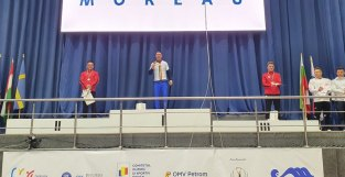 Lugoj Expres Gimnaștii de la CSM Lugoj - medaliați cu aur și argint, la Campionatele Naționale RomGym Trophy medalie de aur medalie de argint medaliați individual compus gimnastică artistică gimnaști CSM Lugoj concurs campion național Andreas Tobă