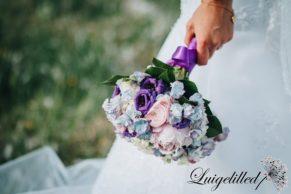 Pruudikimp, pulmad lillades toonides