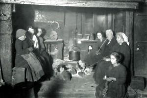 scena domestica inizio secolo