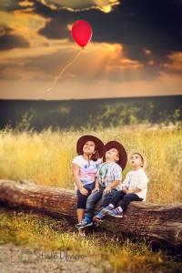 fotografare i bambini all'aperto