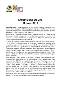 bozza COMUNICATO STAMPA Aldo Cimmino nuovo presidente (1)_001