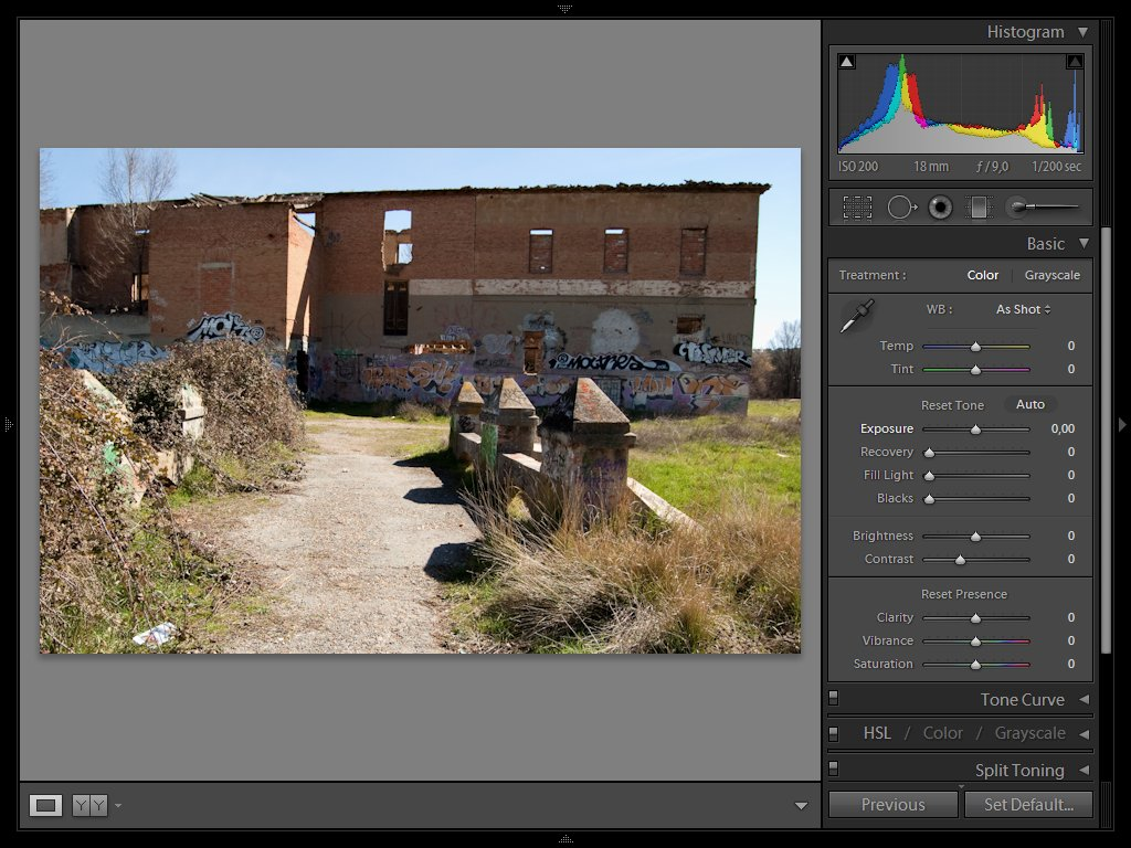 Lightroom en Toshiba A-50 (1024 x 768)