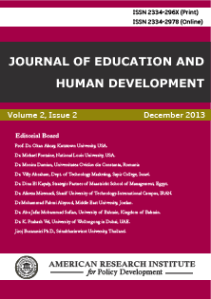 Journal of Education and Human Development.