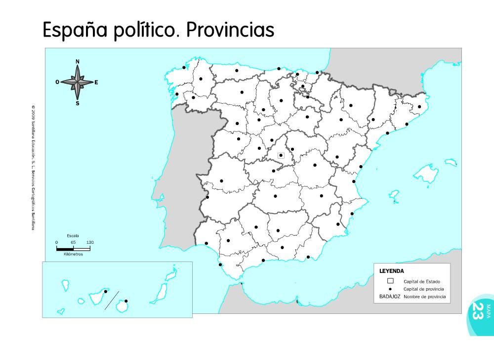 MAPAS DE ESPAÑA. FÍSICOS, POLÍTICOS Y MUDOS (6/6)
