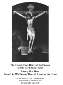 Twenty first Hour From 1 to 2PM Second Hour of Agony on the Cross