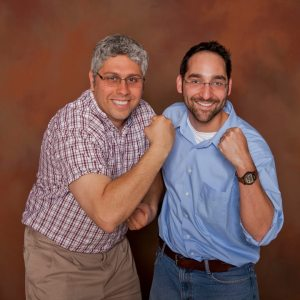 Photo of Dr. A In a Photo Studio with His Protege.