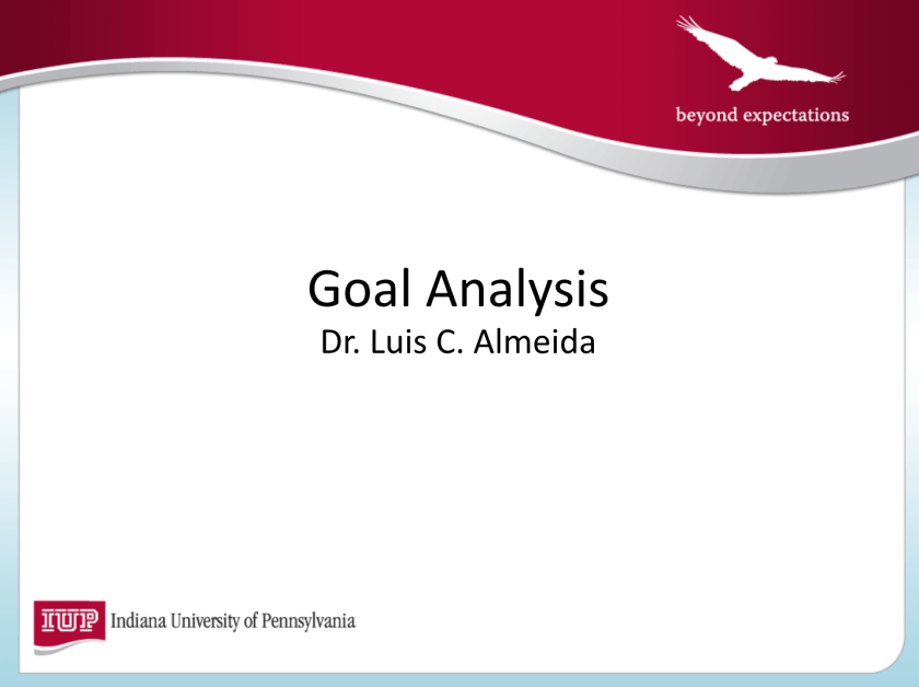 Photo of Goal Analysis