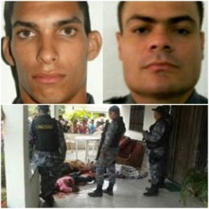Os Policiais Militares David Chapuy e Do Vale, assassinados em tentativa de assalto no último sábado