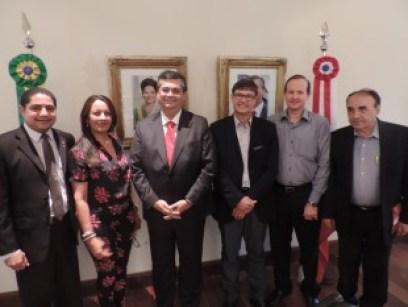 : prefeitos da Região Sul do Maranhão, o governador Flávio Dino e o deputado Zé Inácio